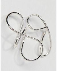 Weekday - Metallic Squiggle Statement Earring - Lyst