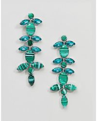 ASOS - Metallic Statement Jewel Vine Earrings - Lyst