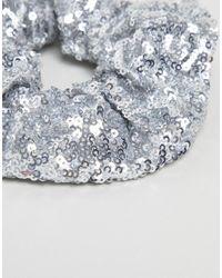 ASOS DESIGN - Multicolor Sequin Scrunchie - Lyst