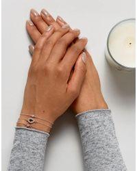ASOS - Multicolor Pack Of 3 Fine Crystal Charm Bracelets - Lyst