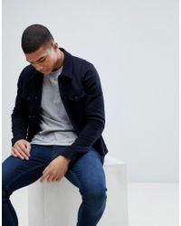 Jack & Jones - Blue Premium Jersey Trucker Jacket for Men - Lyst