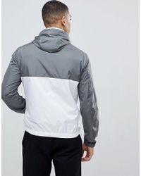 Emporio Armani - Gray Nylon Hooded Jacket In Grey for Men - Lyst