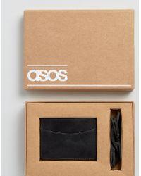 ASOS - Black Bracelet And Card Holder Set for Men - Lyst
