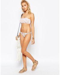 Billabong - Multicolor Tanga Brazilian Paisley Paradise Bikini Bottom - Lyst