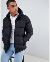Barbour - Derny Hooded Puffer Jacket In Black for Men - Lyst