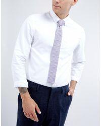 Noak - Purple Knitted Square Tie In Stripe for Men - Lyst