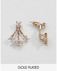 Pilgrim - Metallic Rose Gold Triangle Earrings - Lyst
