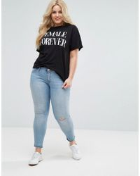 ASOS - Black T-shirt With Female Forever Print - Lyst