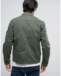 Jack & Jones - Green Originals Field Jacket With Military Patches for Men - Lyst