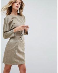 ASOS - Green Casual Mini Dress - Lyst