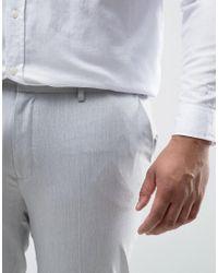 ASOS - Gray Plus Super Skinny Pants In Pale Grey for Men - Lyst