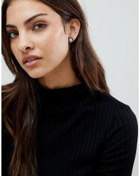 Michael Kors - Metallic Silver Circle Stud Earrings - Lyst