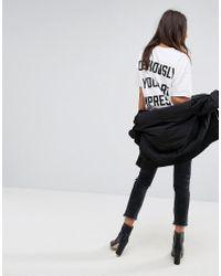 Dr. Denim   White Oversized Slogan T Shirt   Lyst