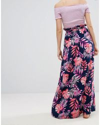 ASOS - Multicolor Maxi Skirt With Belt In Print - Lyst