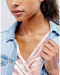 Pilgrim - Metallic Oval Shaped Silver Necklace - Lyst