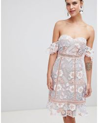 True Decadence - Multicolor Off Shoulder Embroidered Dress - Lyst