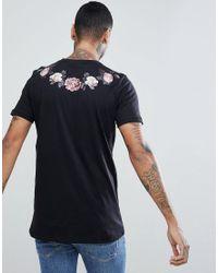 Criminal Damage - Black Muscle Rose T-shirt for Men - Lyst
