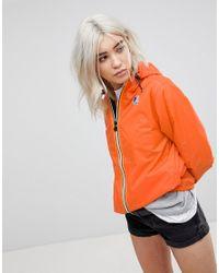 K-Way Orange K-way Claude 3.0 Festival Waterproof Zip Through Jacket