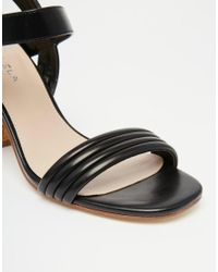 Carvela Kurt Geiger - Black Slick Cork Heeled Sandals - Lyst