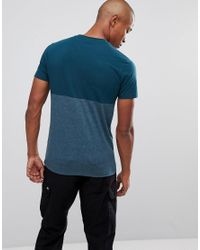 ASOS - Green T-shirt With Contrast Body for Men - Lyst