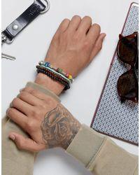 ASOS - Multicolor Multi Colored Beaded Bracelet Pack for Men - Lyst