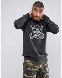 Vans - Blue Skull Print Sweatshirt Va2wg4bhh for Men - Lyst