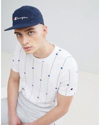 Champion Blue 5 Panel Cap With Logo In Navy for men