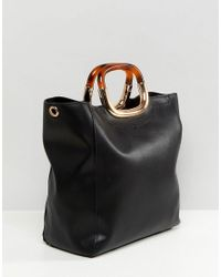 Faith - Unstructured Tote Bag In Black - Lyst