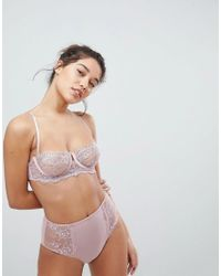 ASOS - Pink Ellie Delicate Lace Underwire Bra - Lyst