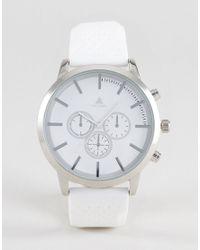 ASOS - Oversized Rubberised Watch In Sleek White for Men - Lyst