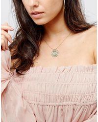 Orelia - Multicolor Charm Thread Necklace - Lyst