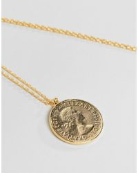 Estella Bartlett - Metallic Gold Plated Coin Necklace - Lyst