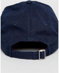 Penfield - Blue Roxbury Twill Baseball Cap Logo In Navy for Men - Lyst