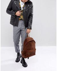 ASOS - Backpack In Brown Suede for Men - Lyst