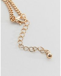 ASOS - Metallic Design Necklace In Gold With Playing Card Pendants for Men - Lyst