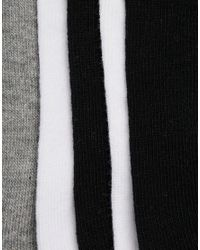 ASOS - Black Invisible Socks In Monochrome 5 Pack Save for Men - Lyst