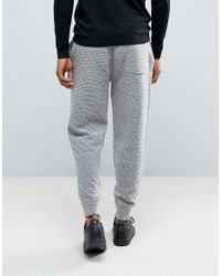 ASOS - Gray Knitted Textured Joggers In Soft Yarn for Men - Lyst