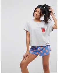 ASOS - Multicolor Fry-day Tee & Short Pyjama Set - Lyst