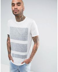 ASOS - White T-shirt With Burn Out & Reverse Box Print for Men - Lyst