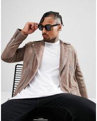 ASOS - 2 Pack Square & Retro Sunglasses In Black Save for Men - Lyst