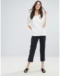 French Connection - White Heatwave Dinka Knit Flared Sweater - Lyst
