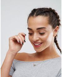 ASOS - Gray Mini Popper Placket One Shoulder Bodycon Dress - Lyst