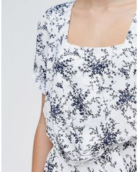 Traffic People - White Less Is Less Dress In Spring Floral Dress - Lyst