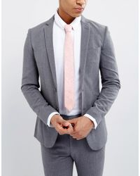 ASOS - Slim Tie In Pink Texture for Men - Lyst
