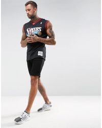 Mitchell & Ness - Black Nba Philidelphia 76ers Swingman Vest for Men - Lyst