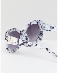 River Island - Multicolor Oversized Square Marble Effect Sunglasses - Lyst