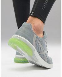 Asics Gray Running Gel Kenun Trainers In Grey T838n-1111 for men
