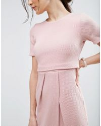 ASOS - Pink Double Layer Textured Wiggle Dress - Lyst