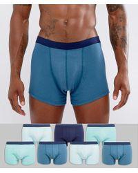 ASOS - Trunks In Blue 7 Pack for Men - Lyst