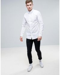 Jack & Jones - White Core Shirt In Slim Fit With All Over Ditsy Print for Men - Lyst